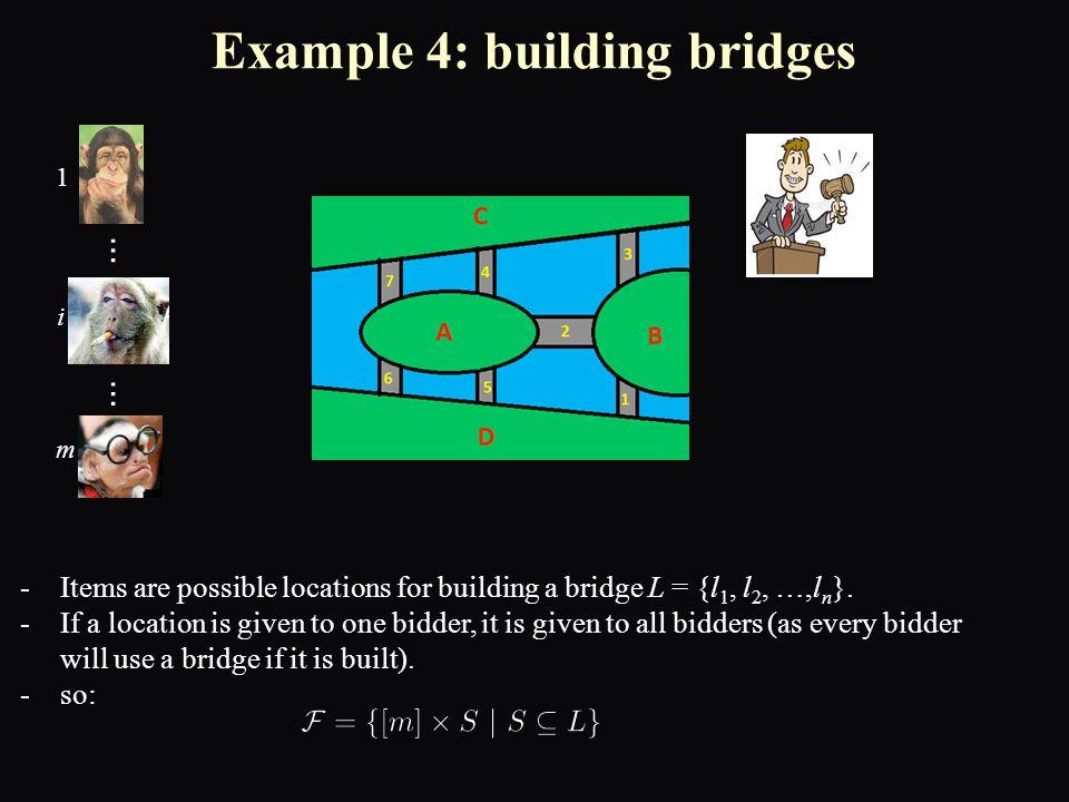 -Items are possible locations for building a bridge L = {l 1, l 2, …,l n }.