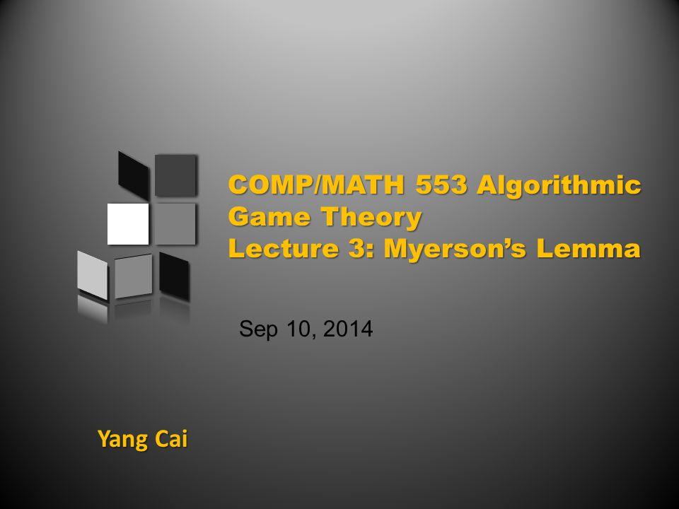 Yang Cai Sep 10, 2014