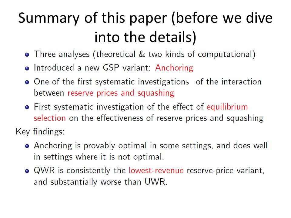 Summary of this paper (before we dive into the details)