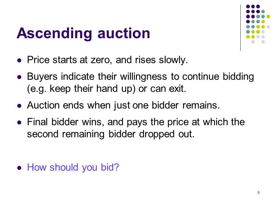Elements of Auction Design Sellers have a variety of ways to modify the basic auction forms and try to increase their revenue, or achieve other objectives.