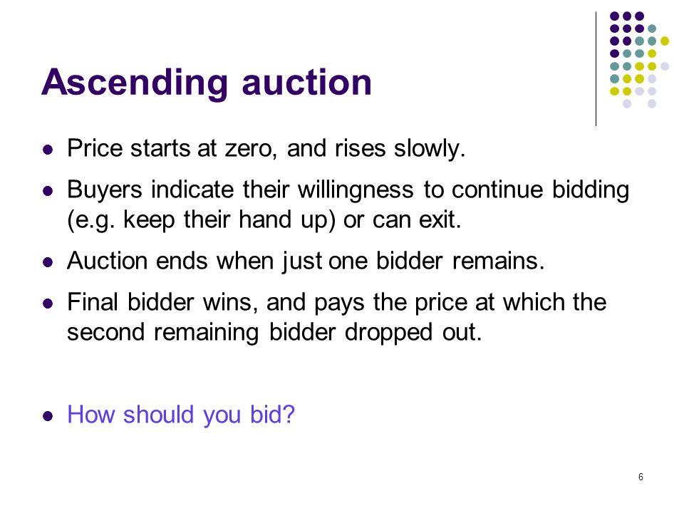 Sealed bidding Bidders submit sealed bids.