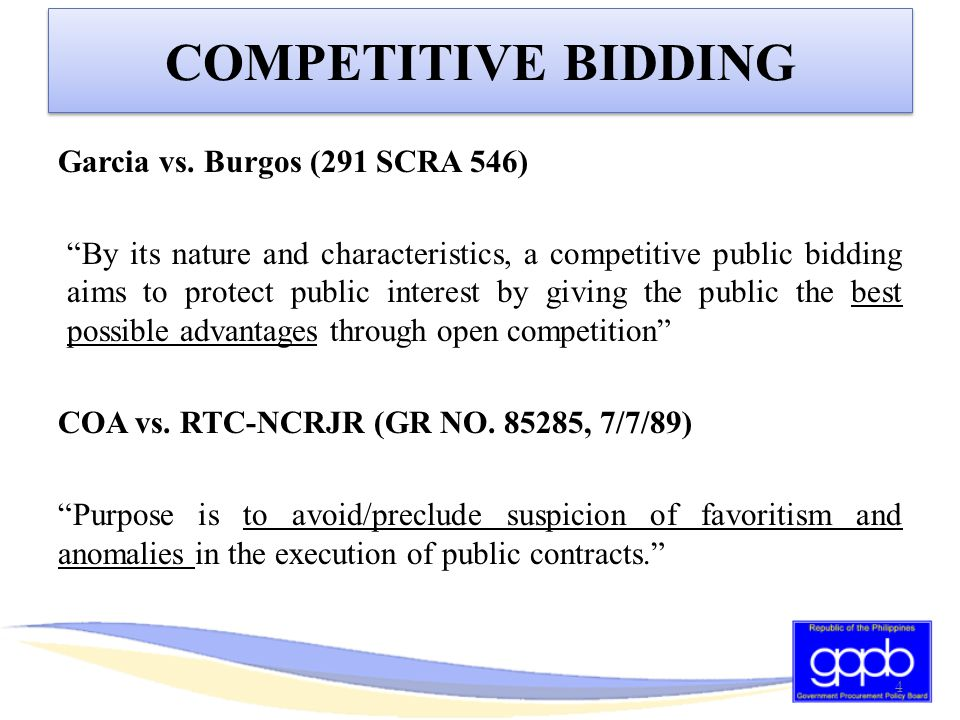 BID SECURING DECLARATION  Penalties -Automatic blacklisting for 2 years in ALL government procurement activities, and -Payment of fine For multiple bidders: difference between the evaluated bid prices of LCB/HRB with the next LCB/HRB.