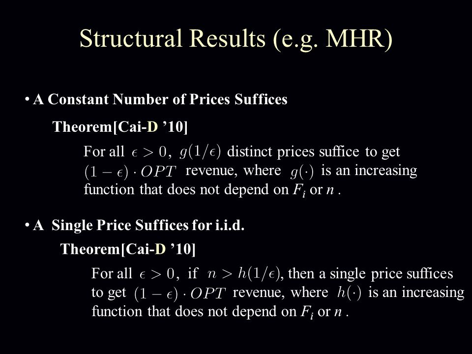 Structural Results (e.g.