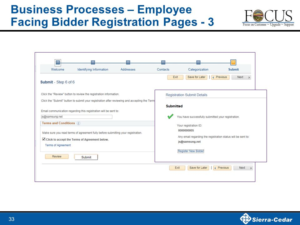33 Business Processes – Employee Facing Bidder Registration Pages - 3