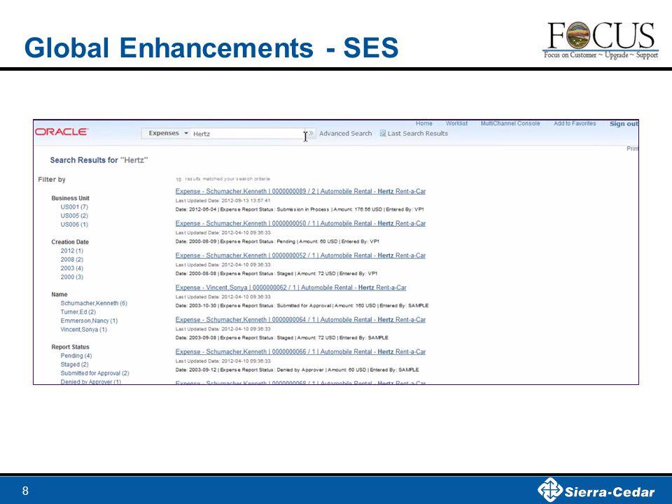 8 Global Enhancements - SES