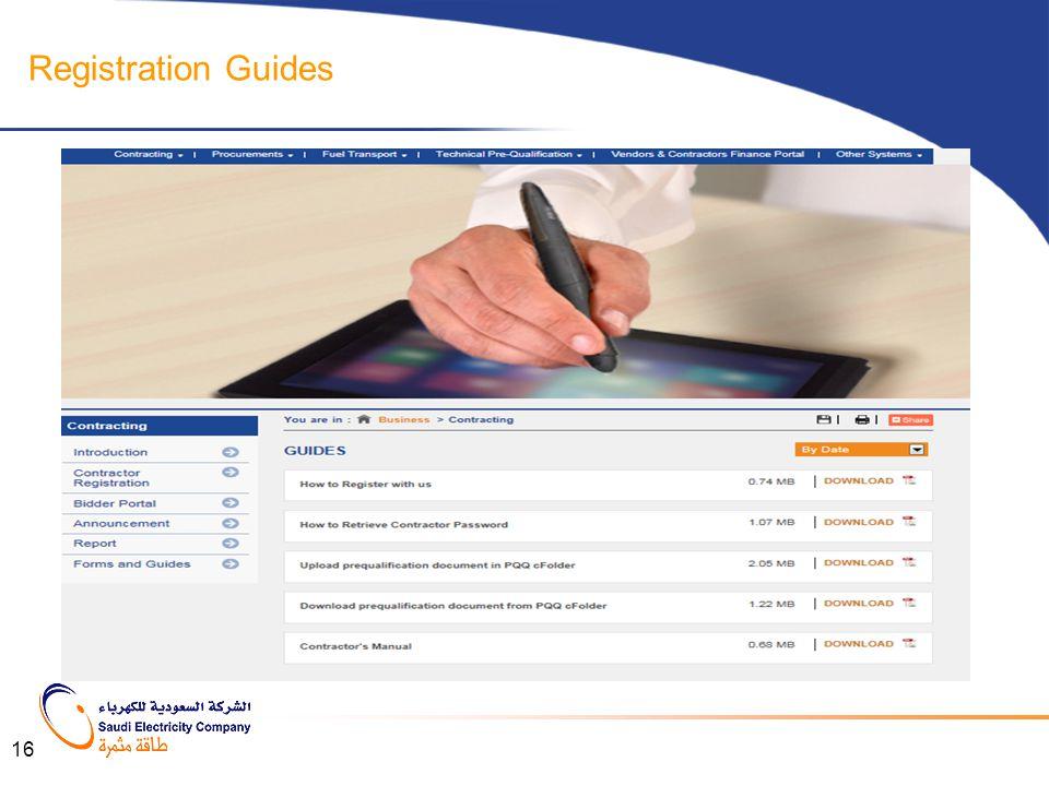 Registration Guides 16