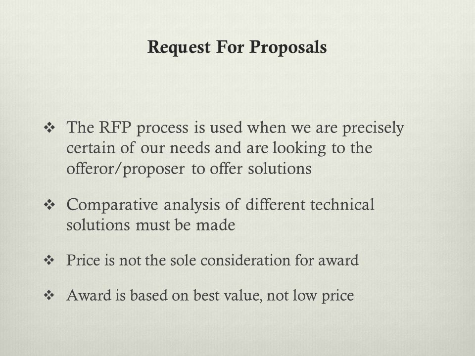 How is the RFP Method Similar to Formal Sealed Bidding.