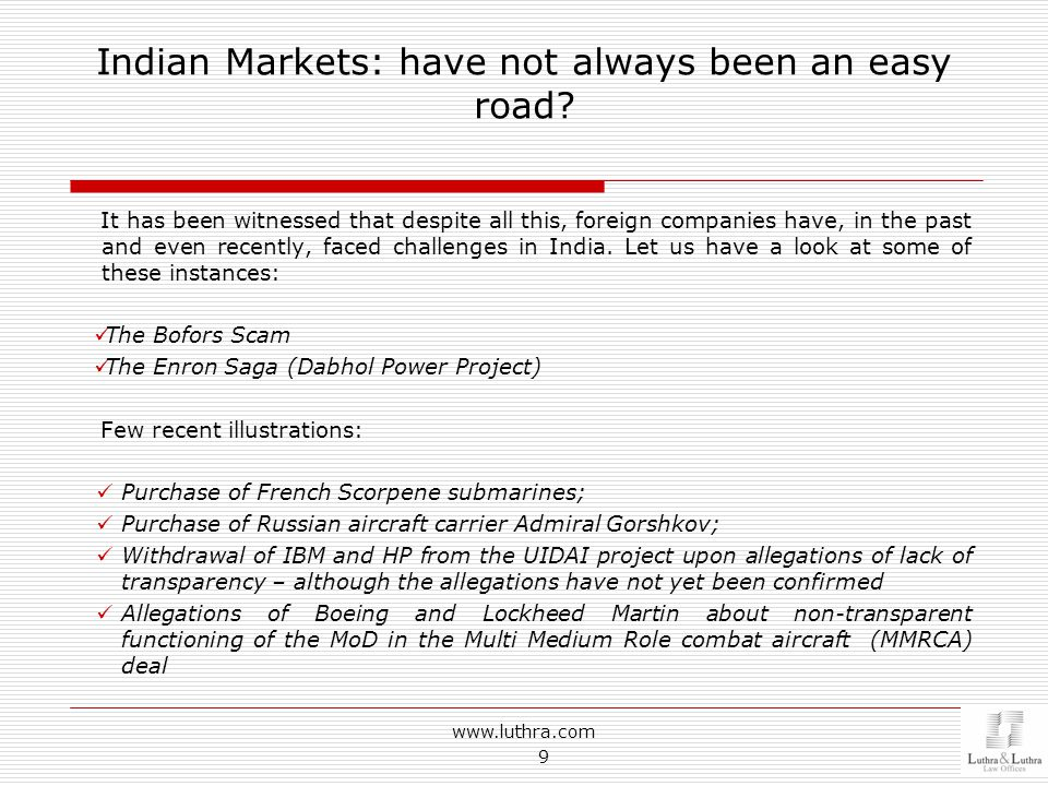 Indian Markets: have not always been an easy road.