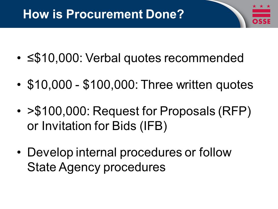 How is Procurement Done.
