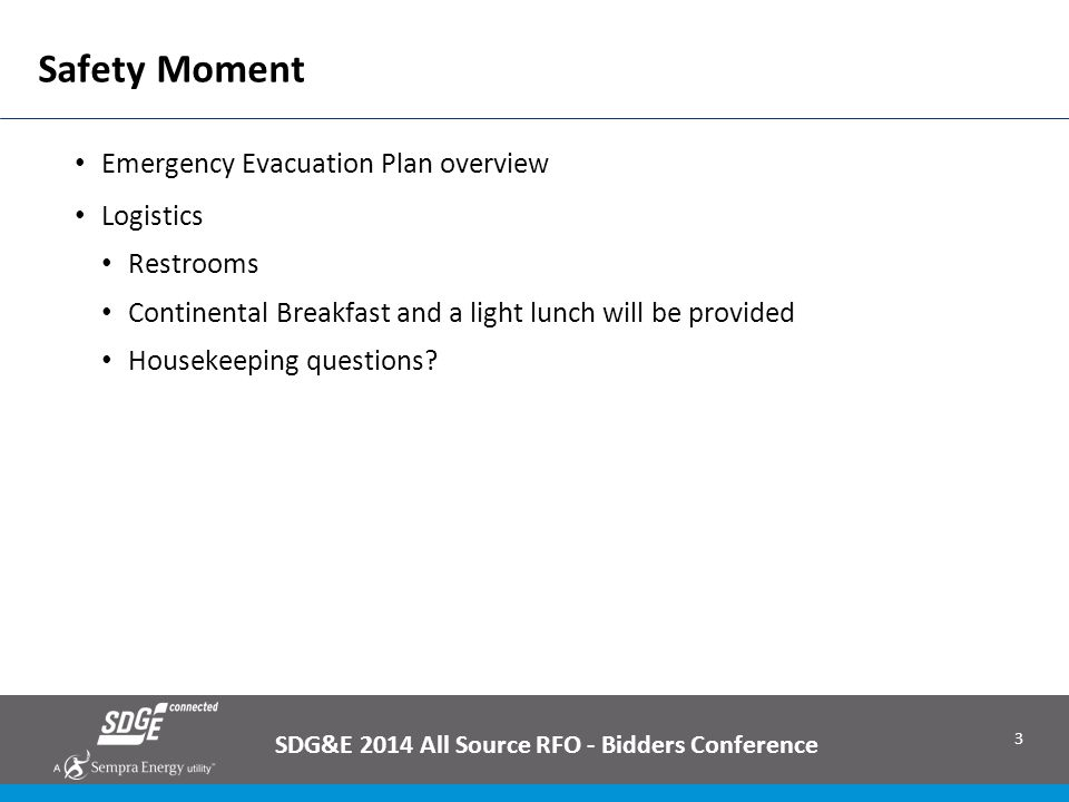 4 General Q&A Guidance SDG&E has posted (and will continue to post) questions and answers on the All Source solicitation website (http://www.sdge.com/all-source-2014-rfo)http://www.sdge.com/all-source-2014-rfo −Q&A's that apply to all product types are included on the main page; product type specific Q&As will be included on the page for each product type Questions from today will be written down; all questions and answers will be posted on the RFO website Questions can be submitted to AllSourceRFO@semprautilities.com at any time until the question submittal deadline AllSourceRFO@semprautilities.com Questions received (and answers) will be posted to the website periodically Deadline to submit questions: November 14, 2014 −SDG&E will post the final set of answers no later than December 1, 2014 (offers are due on January 5, 2015) SDG&E 2014 All Source RFO - Bidders Conference