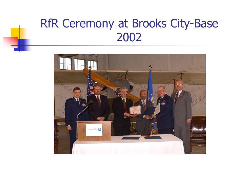 RfR Ceremony at Brooks City-Base 2002