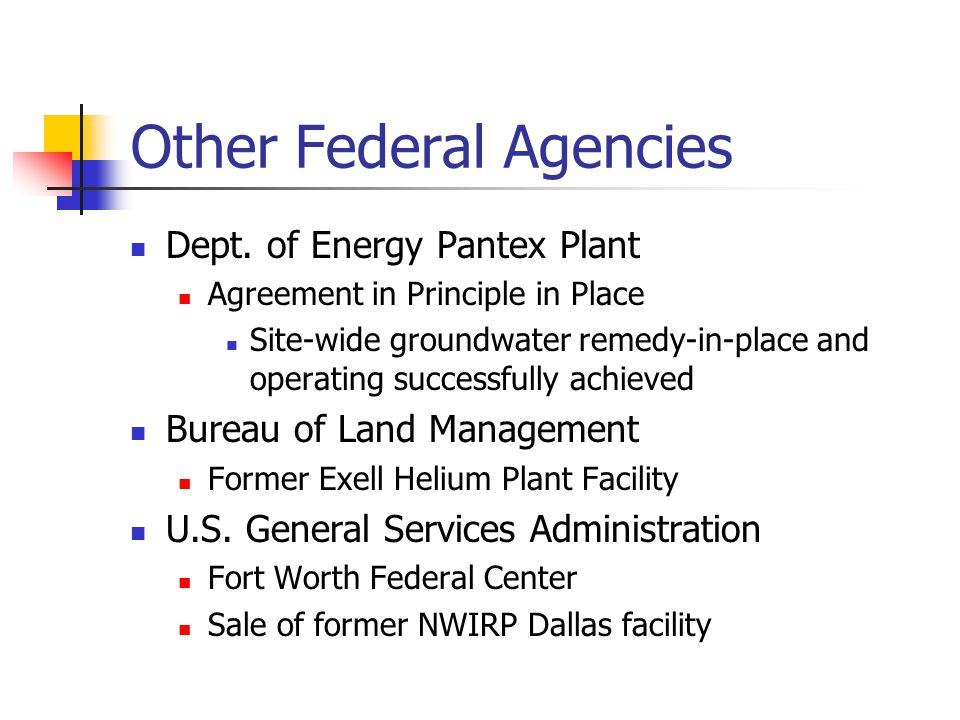 Other Federal Agencies Dept.
