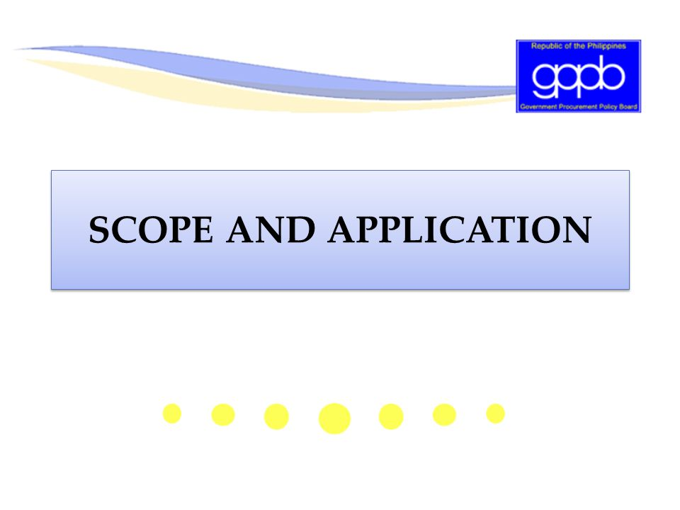 Scope and Application: General Support Service Engineering Services as General Services  For the maintenance of PE's offices and facilities, engineering services may be considered as within the contemplated coverage of general support services, in the same vein as are the services for janitorial and security.