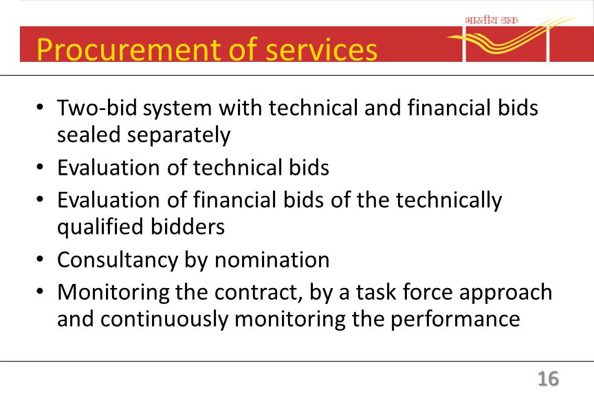 Procurement of services Preparation of scope of the required work/service eligibility and pre-qualification criteria Estimating reasonable expenditure