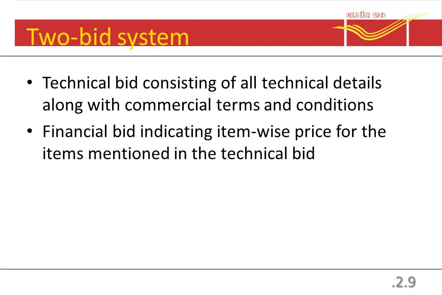 Contents of bidding Document Chapter 1: Instructions to Bidders Chapter 2: Conditions of Contract Chapter 3: Schedule of requirements Chapter 4: Speci