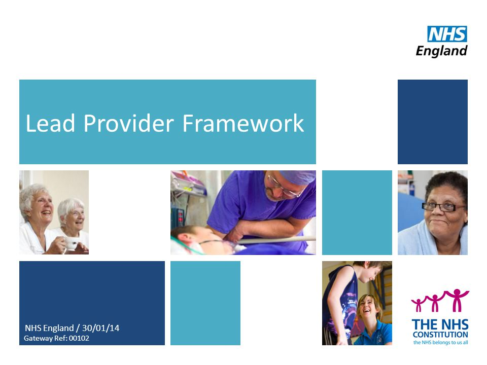 1 Lead Provider Framework NHS England / 30/01/14 Gateway Ref: 00102