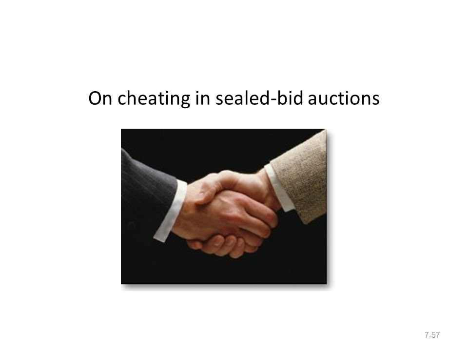 On cheating in sealed-bid auctions 7-57