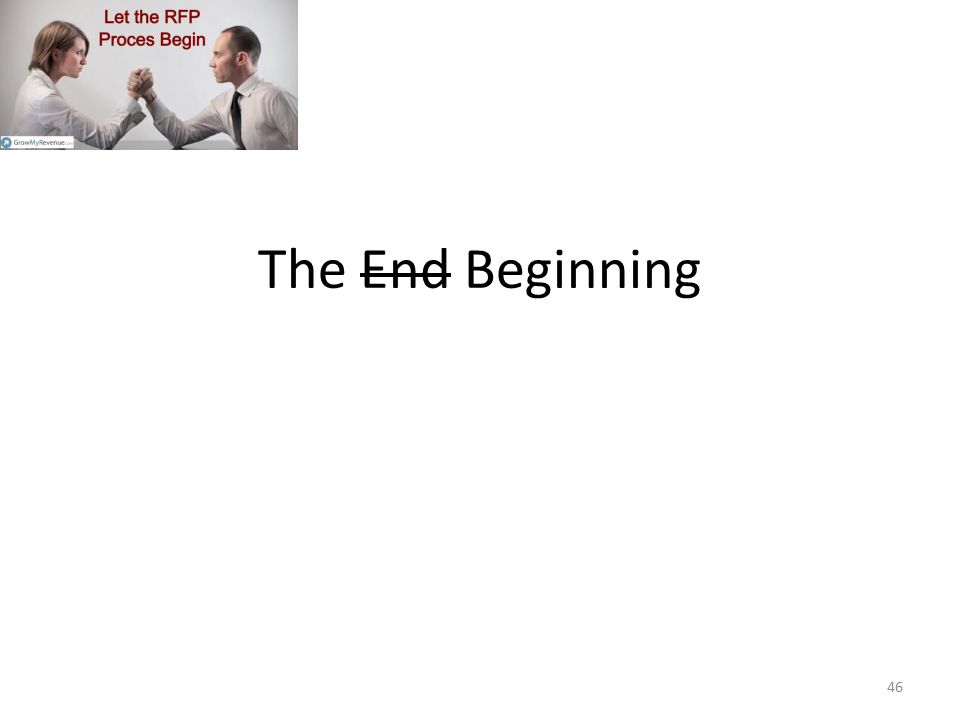 The End B eginning 46
