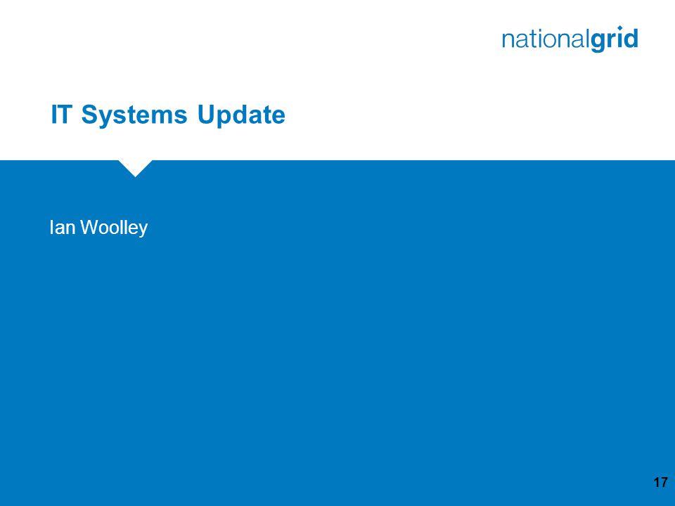 IT Systems Update 17 Ian Woolley