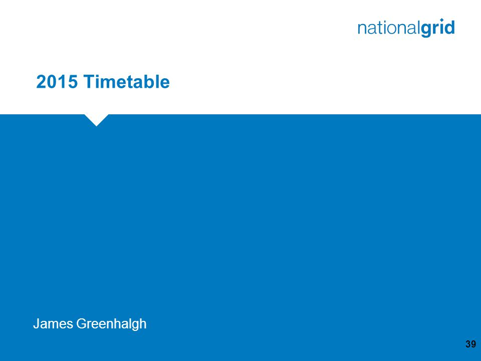 2015 Timetable 39 James Greenhalgh