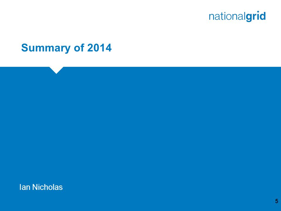 Summary of 2014 5 Ian Nicholas