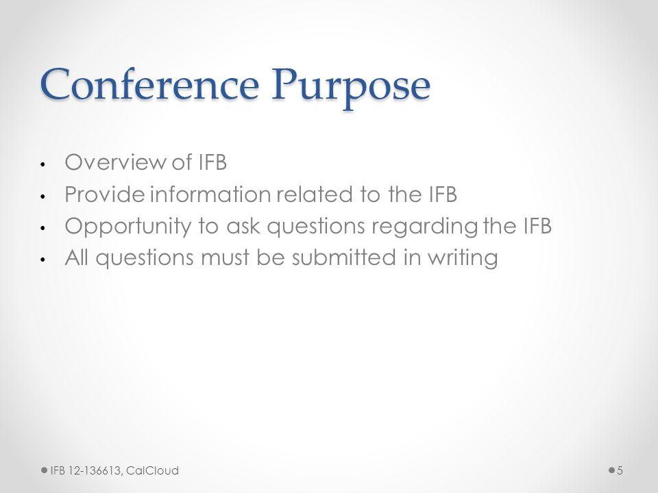 Section VI: Technical IFB 12-136613, CalCloud16