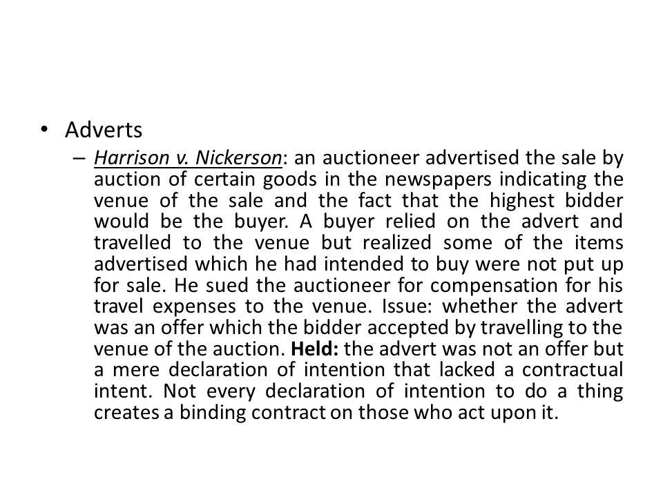 Adverts – Harrison v.