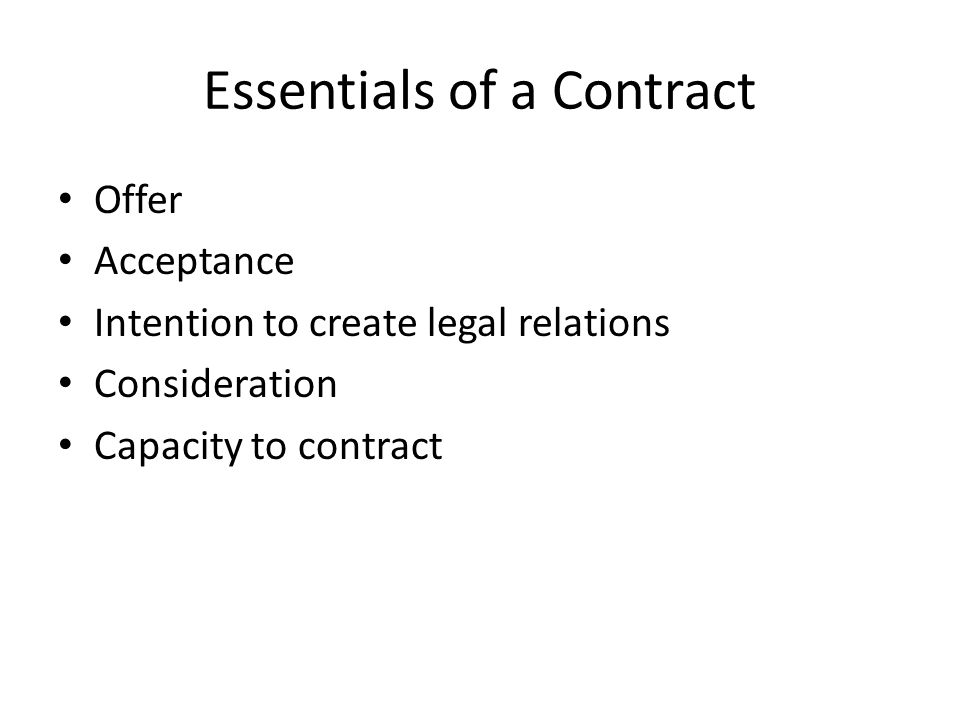 – Must be expressed, either in writing or oral – Only the offeror can accept an offer.