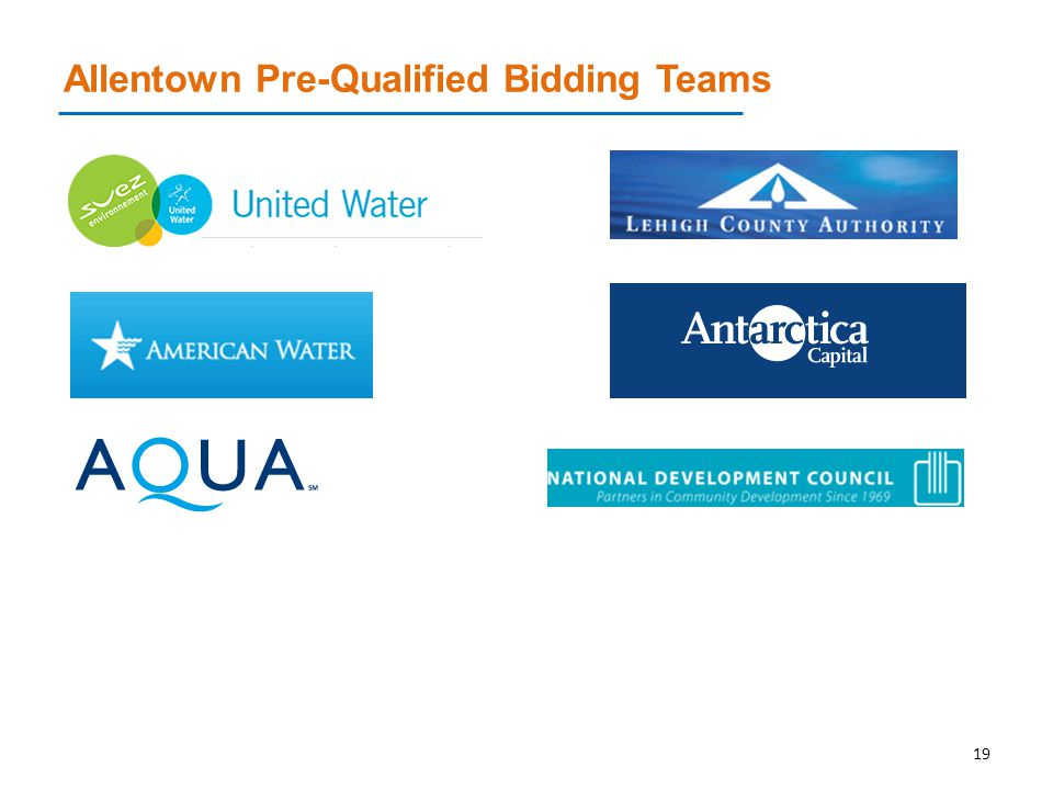 Allentown Pre-Qualified Bidding Teams 19