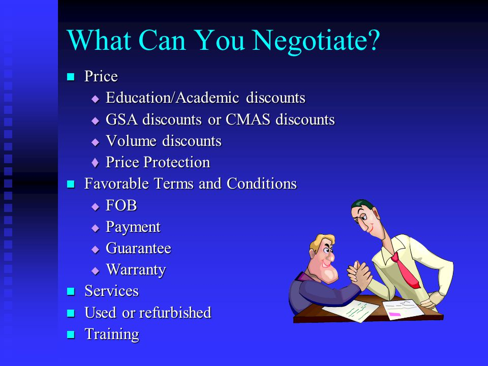 What Can You Negotiate.