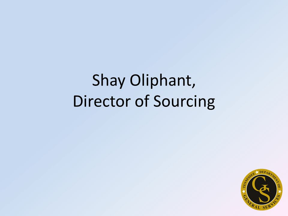 Shay Oliphant, Director of Sourcing