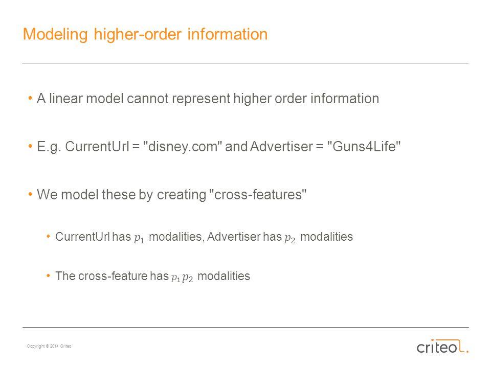 Copyright © 2014 Criteo Modeling higher-order information