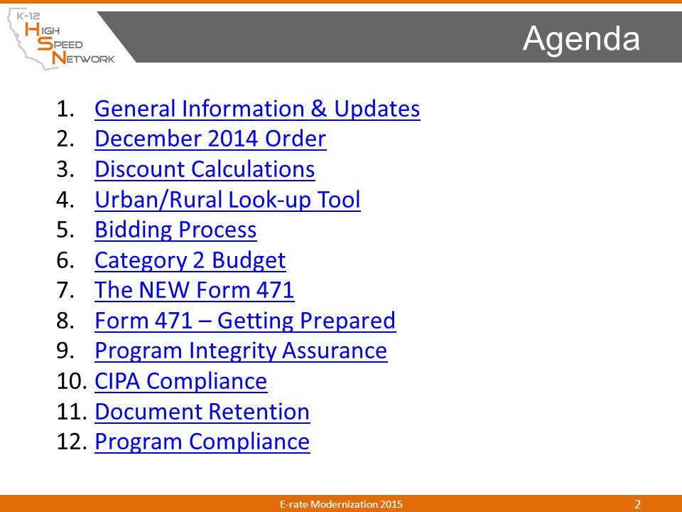 1.General Information & UpdatesGeneral Information & Updates 2.December 2014 OrderDecember 2014 Order 3.Discount CalculationsDiscount Calculations 4.U