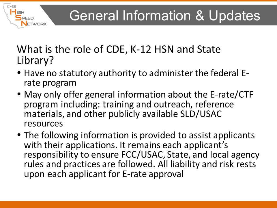NEW : Network survey information - Libraries: – Filled out once per application Form 471 – Getting Prepared E-rate Modernization 2015 64