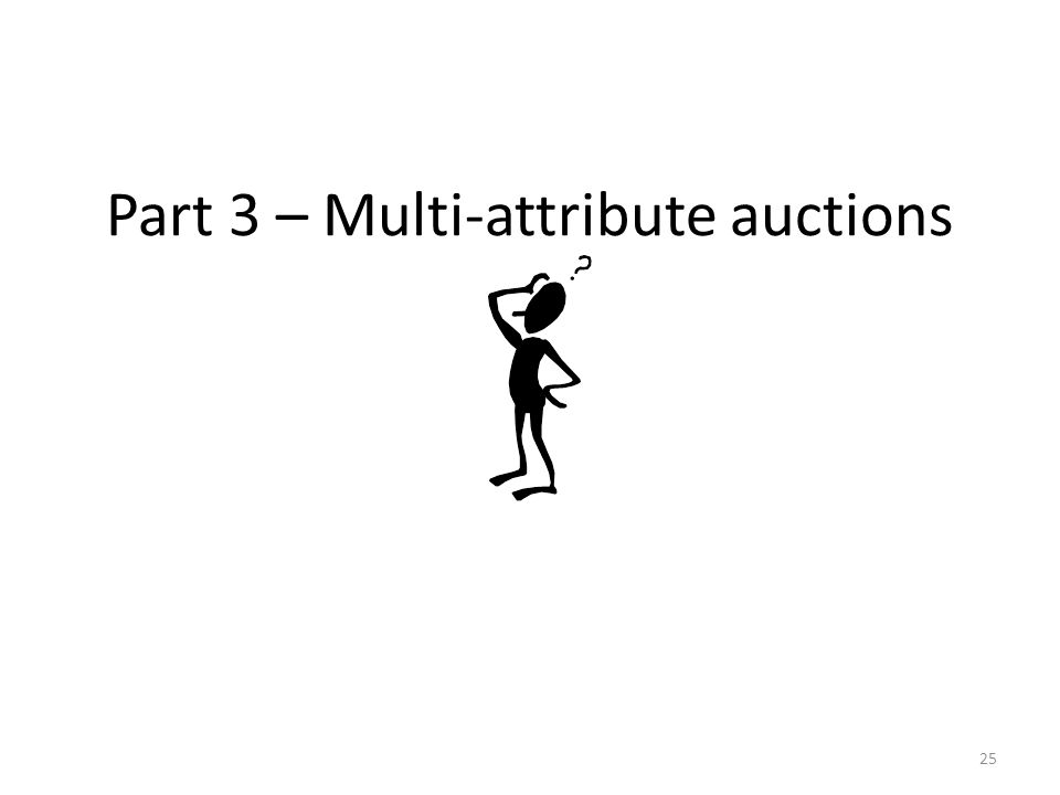 Part 3 – Multi-attribute auctions 25