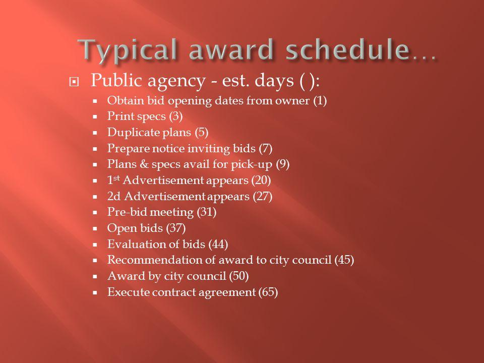  Public agency - est.