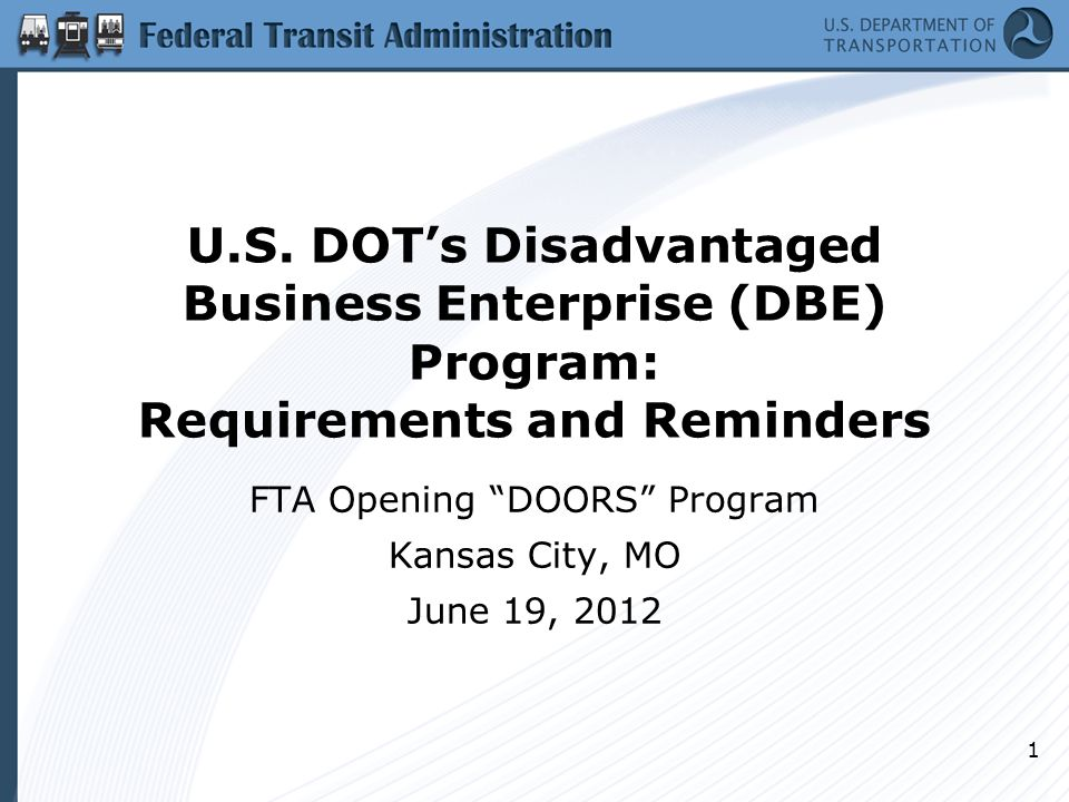 Monitoring Mechanisms In the past, the DBE rule required that recipients monitor contracts/projects with DBE participation, but without specifying what must be done Now, must perform site visits and certify to FTA (or FHWA, FAA) that the DBEs are performing the work assigned to them 12