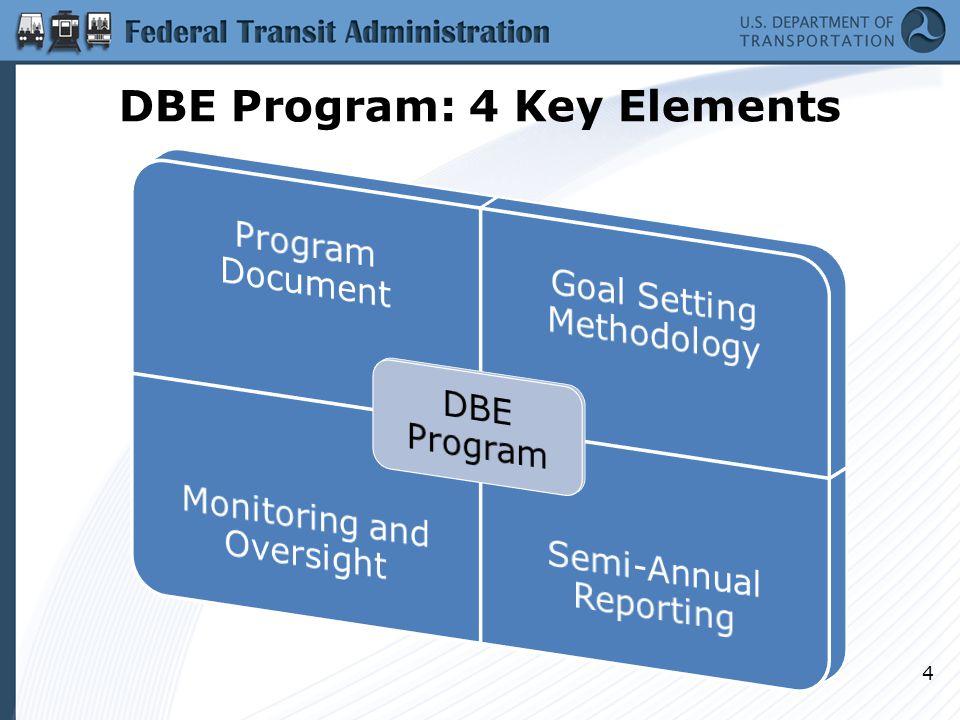 DBE Program: 4 Key Elements 4