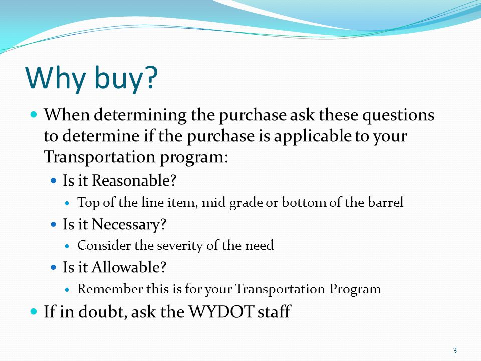 Why buy.