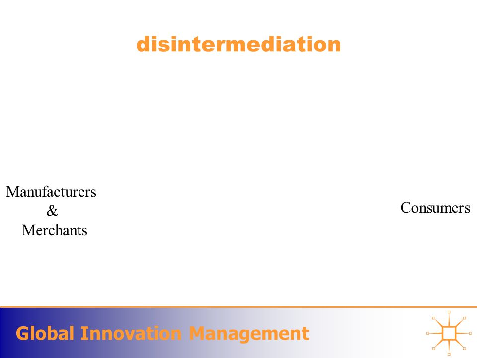 Global Innovation Management disintermediation Manufacturers & Merchants Consumers