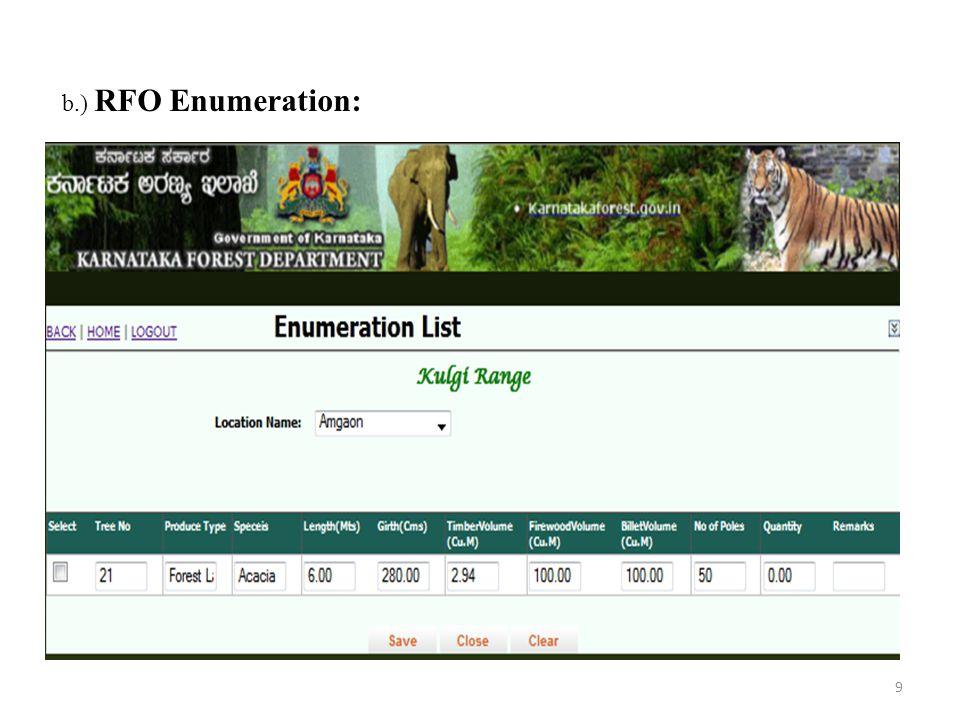 c.) ACF Enumeration : 10