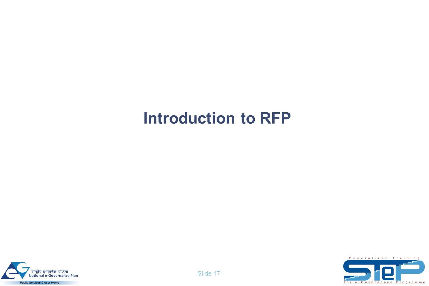 Slide 17 Introduction to RFP
