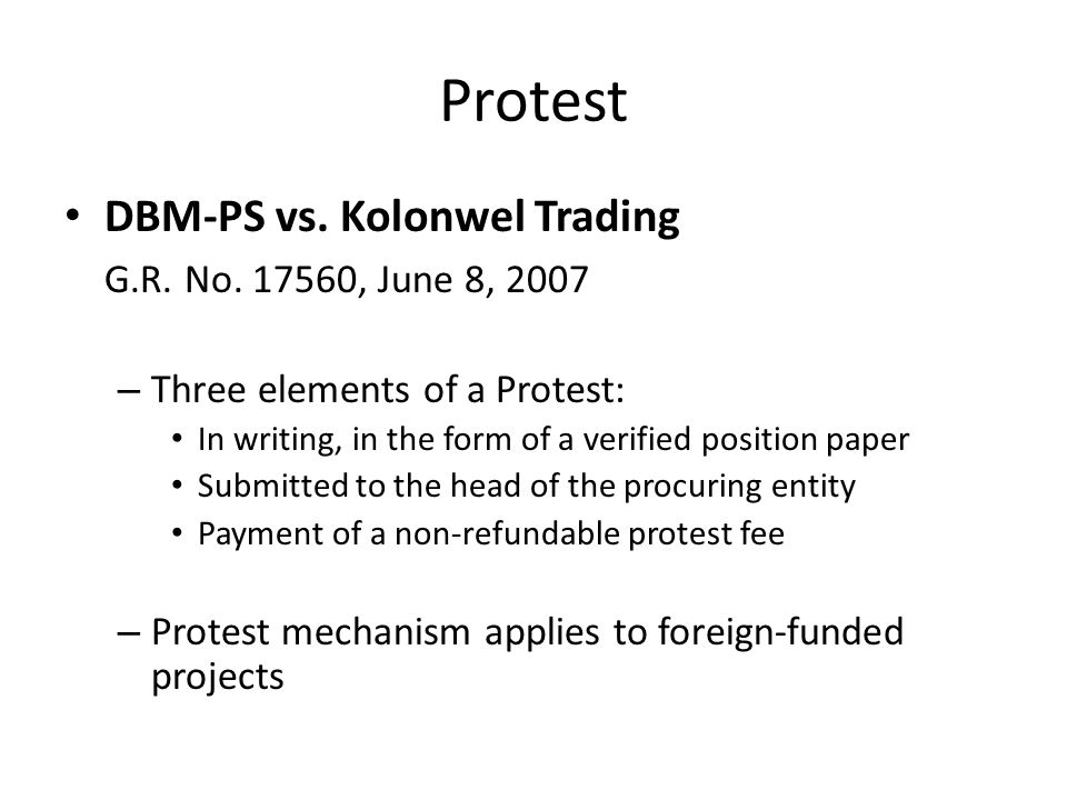Protest First United Constructors Corp.vs. Poro Point Management Corp.