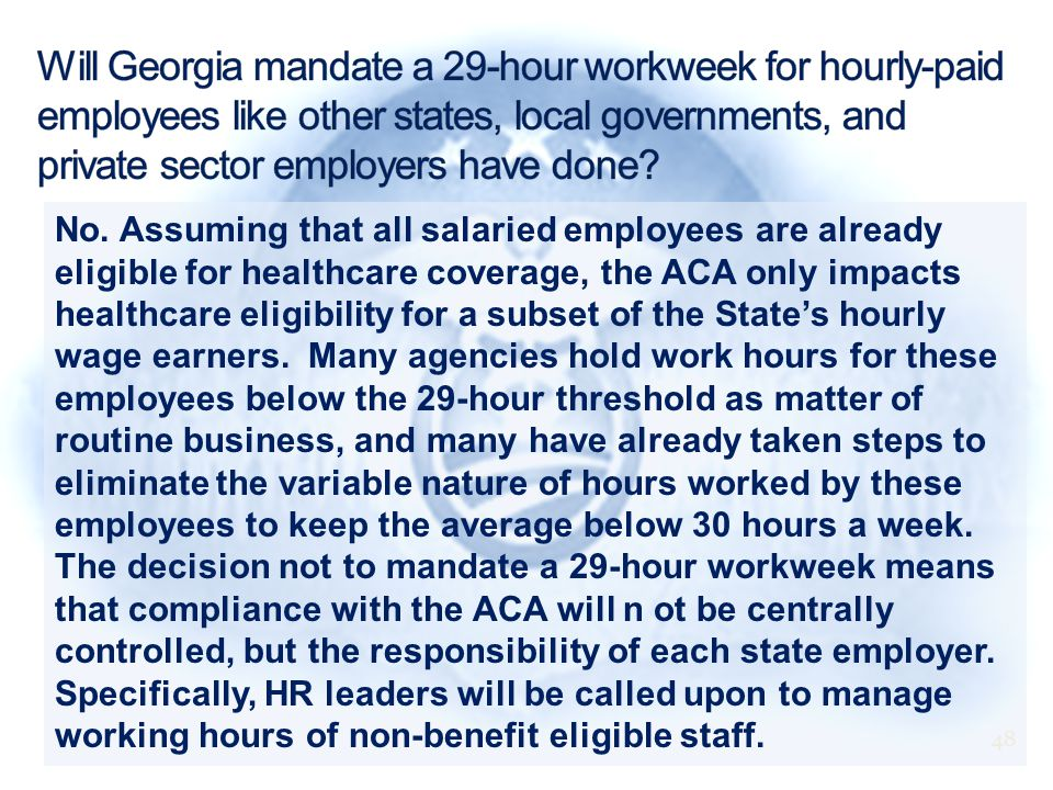 No. Assuming that all salaried employees are already eligible for healthcare coverage, the ACA only impacts healthcare eligibility for a subset of the