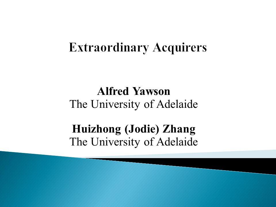 Alfred Yawson The University of Adelaide Huizhong (Jodie) Zhang The University of Adelaide