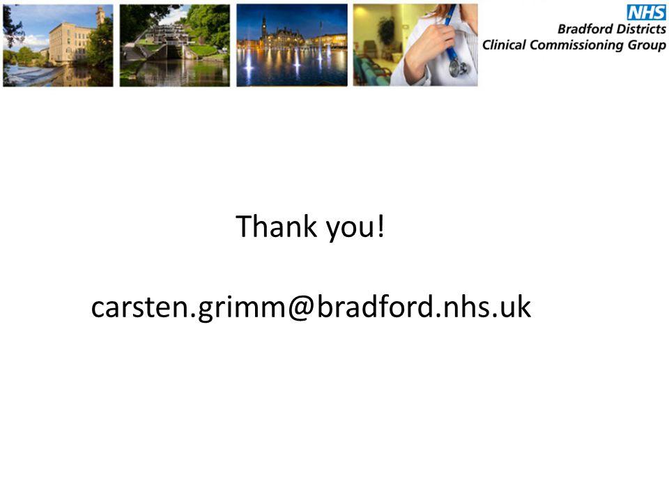 Thank you! carsten.grimm@bradford.nhs.uk
