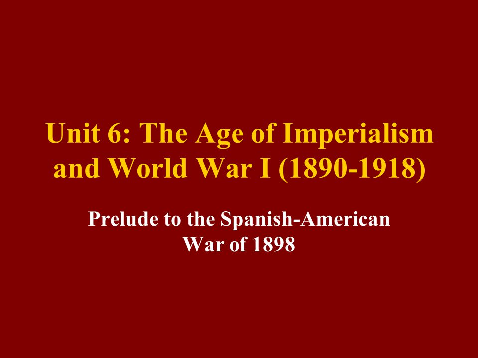 Bell Ringer – Why Imperialism? $$$ Imperialism