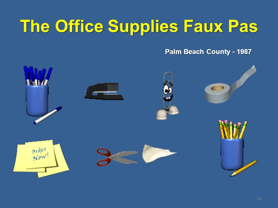 The Office Supplies Faux Pas 34 Palm Beach County - 1987