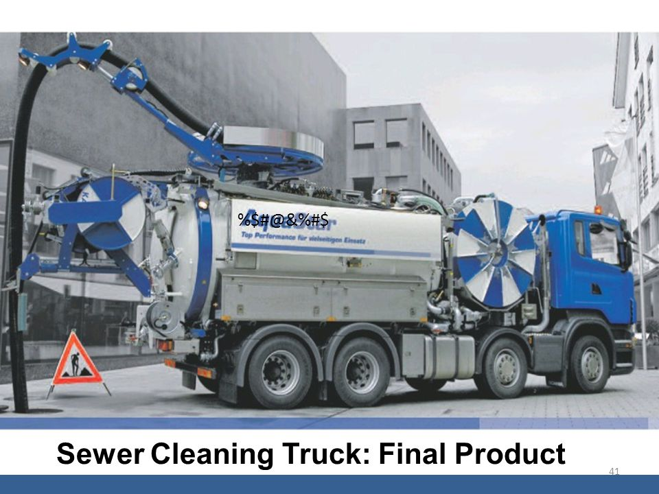 Sewer Cleaning Truck: Final Product %$#@&%#$ 41