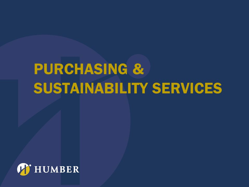 PURCHASING & SUSTAINABILITY SERVICES